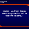 Nagios – an Open Source monitoring solution and it's deployment at QUT