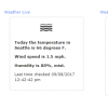 Weather checking dashlet